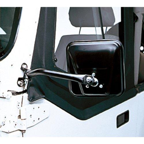 Rugged Ridge 11001.08 CJ Style Black Side Mirror - Pair