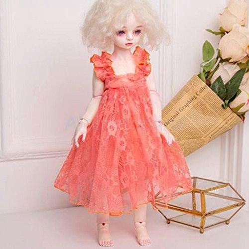 Doll Party Princes Lace Dress Skirt for 1/3 BJD 1/4 SD DZ DOD Dollfie Pink by alpinetopline