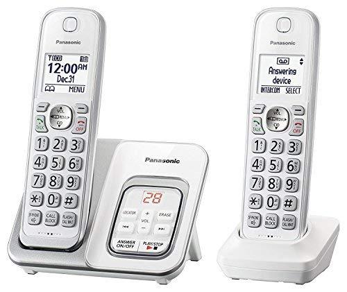 Panasonic KX-TGD532W Cordless Phone with Answering Machine - 2 Handsets (Renewed) ()