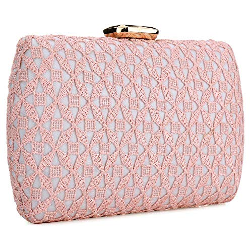 for Women Rhinestone Bag Bow Wedding Purse Party Clasp Crystal Bridesmaid Evening Bling Pink Clutch y4wZqpBZ6