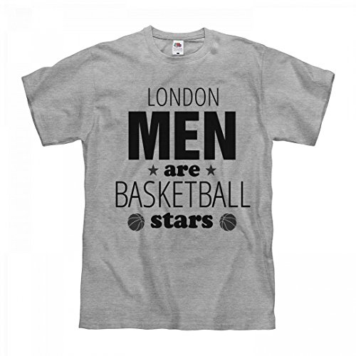 fan products of FUNNYSHIRTS.ORG London Men Are Basketball Stars: Unisex Fruit of The Loom Midweight T-Shirt