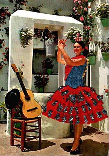 Modern Dancers Costume (Spanish Dancer Embroidered Costumes Original Vintage Postcard)