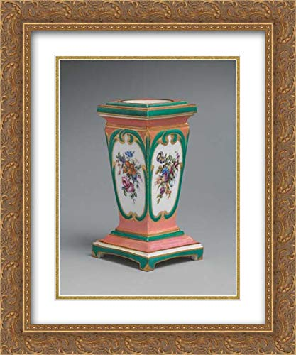 Sevres Manufactory - 20x24 Gold Ornate Frame and Double Matted Museum Art Print - Pedestal vase and Bulb Pot (piedestal en gaine) (one of a Pair)