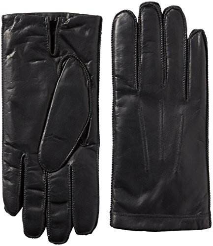 Isotoner Men's Smooth Leather smarTouch Gloves , Black, X...