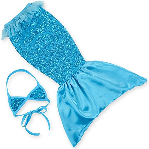 Kids 2Pcs cola de sirena bañadores Bañador Bikini traje de baño con impresión Scaly 07# water orchid