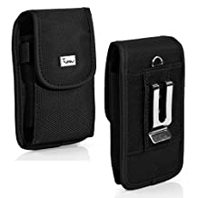 Vertical Heavy Duty Rugged Canvas Belt Clip Case Cover Pouch Holster For Samsung Galaxy S3 & Galaxy S4 Compatible With Otterbox Commuter & Defender & Reflex On it-Sold by MechSoft Tech