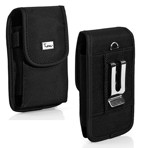 Vertical Black Heavy Duty Rugged Canvas Holster Case Pouch with Belt Clip For Apple iPhone 5/iPhone 5 / 5s/iPhone 5c