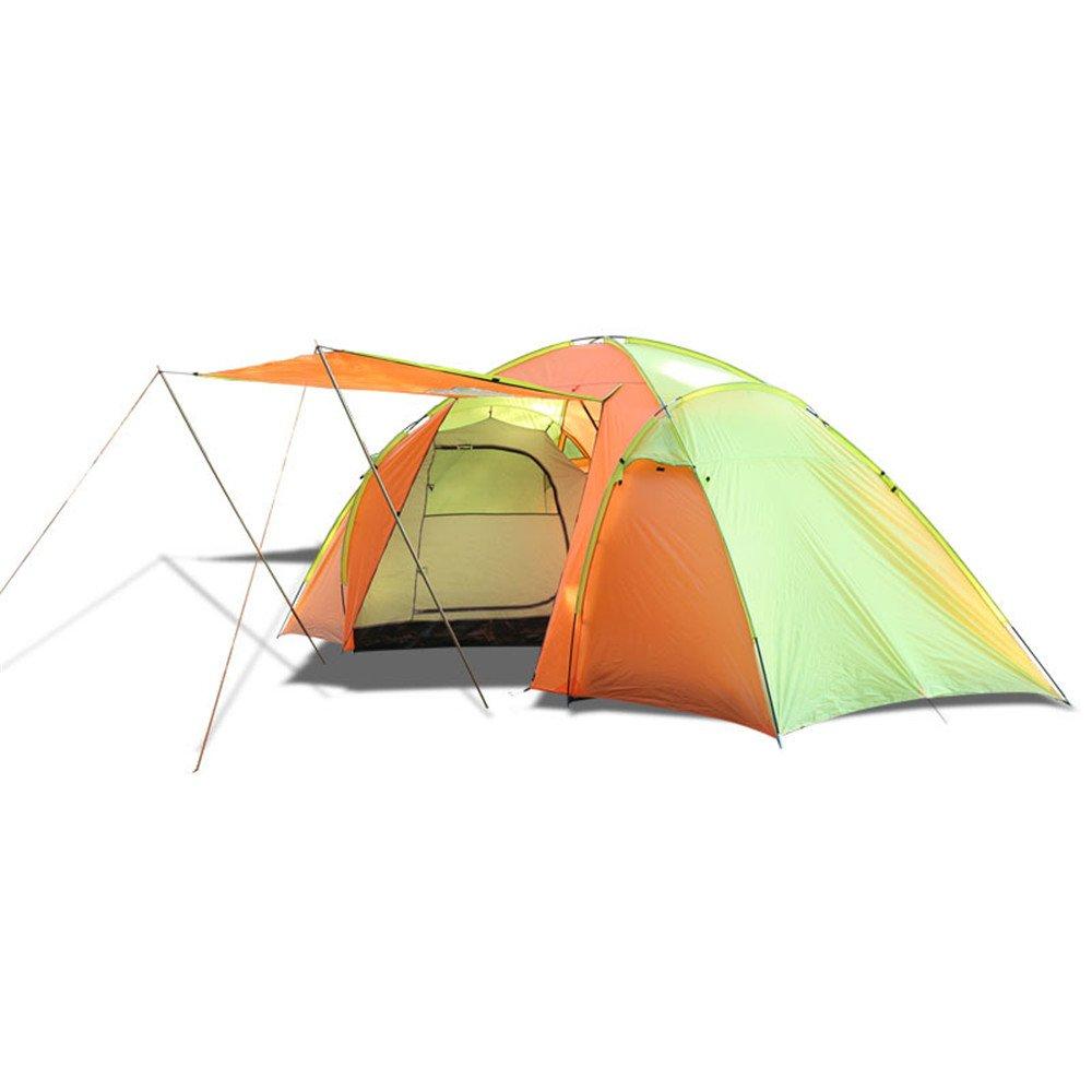 3-4人物頑丈なテント2ベッドルーム、1階建てのバックパックテント/組み立てが必要超軽量のキャンプ用トラベルシューズ、サンシェードモスキート   B07C1K2YDW