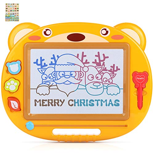 Peradix Kids Magnetic Drawing Board, 16.9X13.8 inch Big Bear Magna Scribble Doodle Board Erasable Colorful Writing Painting Sketching Pad, Toy for Kids Toddlers Portable Travel Size