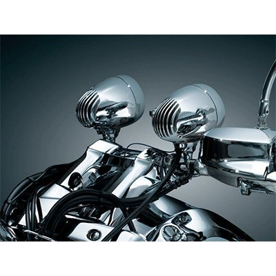 Kuryakyn 834 Bluetooth Sound of Chrome Speakers for Harley 1 in. Handlebars (834)