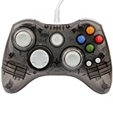 Xbox 360 Controller GC20 Transparent LED Controller Dual Vibration Wired Controller for Microsoft Xbox 360/PC(Black)