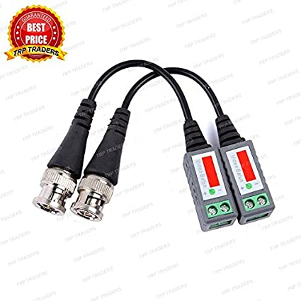 TRP TRADERS 2 Pcs Anti-Interference UTP 1 CH Passive Video Balun Connector,  Coax to Camera CCTV