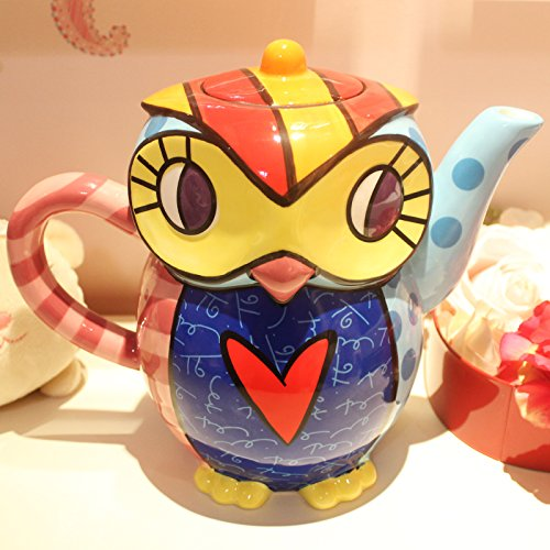 BBujsgH The Painted Ceramic Heat Large Capacity Cold Kettle , 7 (Multimedia Owl ? (Stereo Styling, 2000Ml)]()