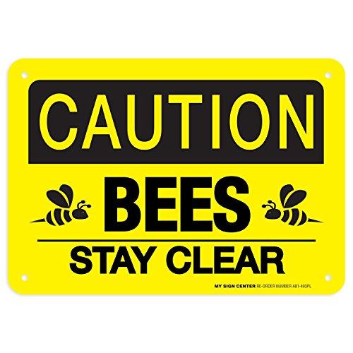 Caution No Trespassing Honeybees At Work Sign, fun beekeeper gift 10