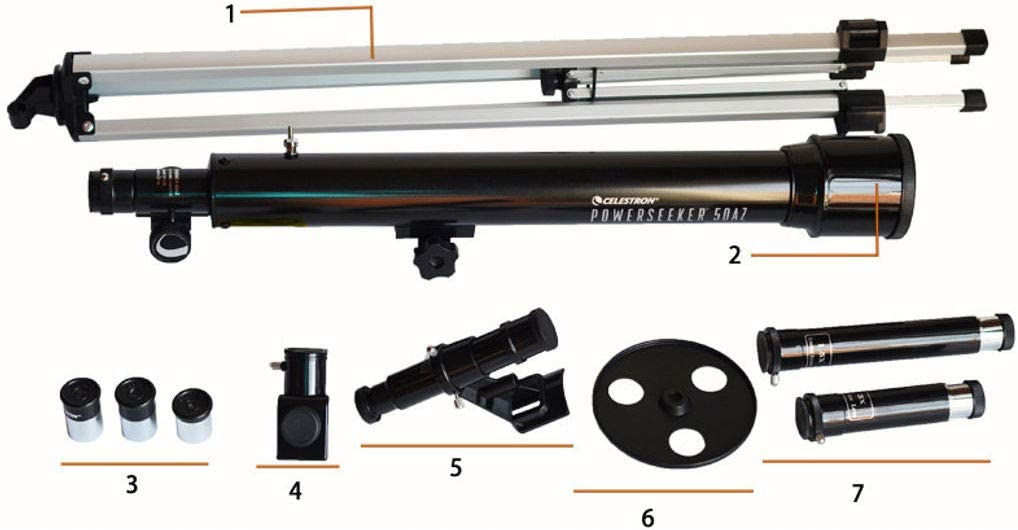 JHLD Telescope for Adult Portable Refractor Telescope with Adjustable Tripod to Observe Moon and Planet-P50THE
