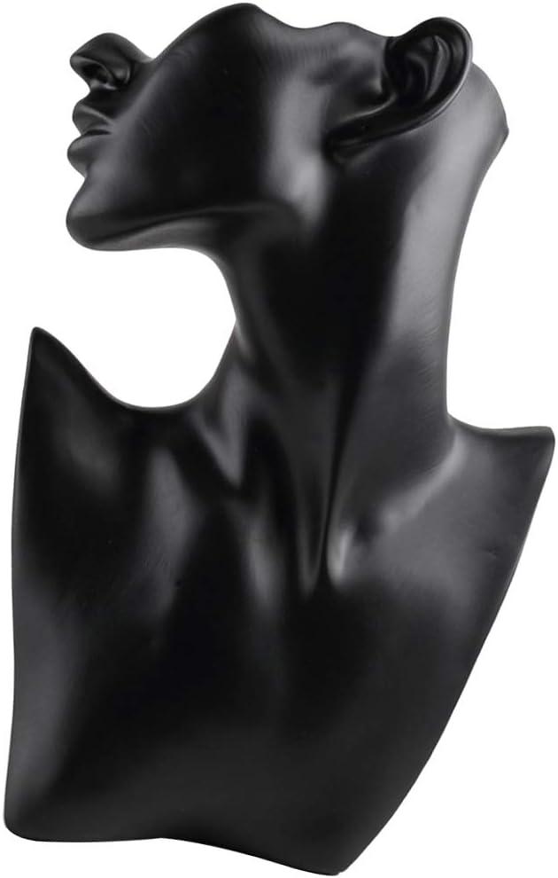 B Blesiya Pr/ésentoir de Bijoux de Collier en Forme de Buste Necklace Display /Étag/ère Organisateur Rangement Female Mannequin Dispaly r/ésine Blanche L