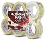 Red Frog 2.0 mil 1.88'' x 110 yards Super Clear, Low Noise Packaging Tape 6 Pack