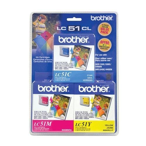 BROTHER LC513PKS / Brother LC513PKS - Yellow, cyan, magenta - original - ink cartridge - for DCP 350, FAX 2580, IntelliFAX 1860, 1960, 2580, MFC 230, 3360, 465, 5860, 685, 845, 885 ()
