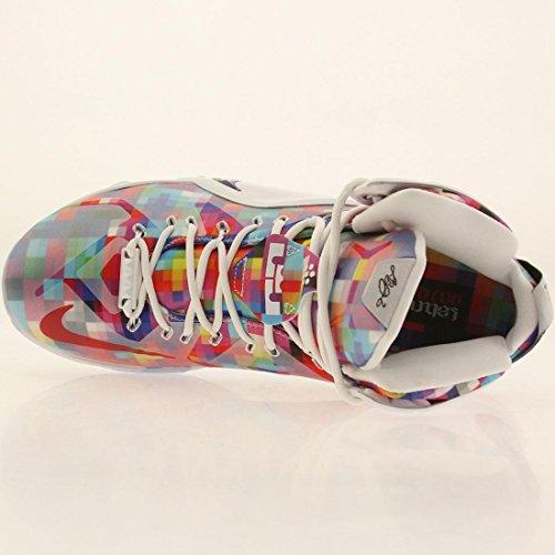 Nike Men's Lebron XII EXT, MULTI-COLOR/UNIVERSITY RED-WHITE, 9 M US