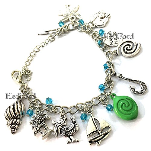 Moana Animated Movie Themed Charm Bracelet