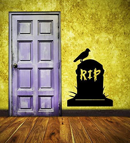 A Design World Vinyl decacls Halloween Wall Decal Tombstome RIP Vinyl Wall Decal Decor RIP Tombstone Halloween Party Decor RIP Tombstone