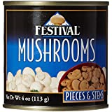 Festival Mushroom Pieces/Stems, Fresh Pack, 4-Ounce (Pack of 24)