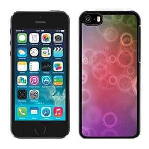 Circles Art Hard Plastic iPhone 5C Protective Phone Case
