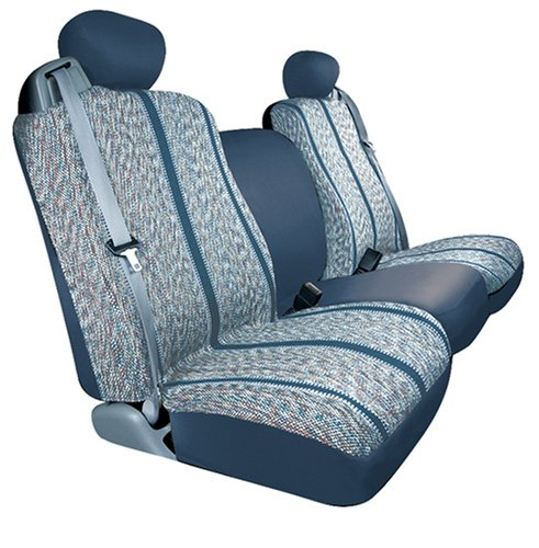 Saddleman Custom Made Front Bucket Seat Covers – Saddle Blanket Fabric (Blue)