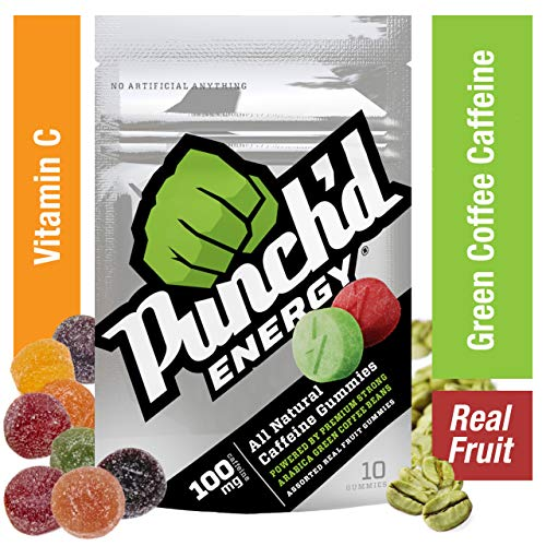 The Chew Halloween Punch (10-Pack Punch'd Energy Natural Caffeine Gummies (100 Count) Real Fruit Energy Chews Powered by Premium Strong Arabica Green Coffee Beans, Vitamin C, Low Glycemic, Clean Caffeine #getpunchd Go)