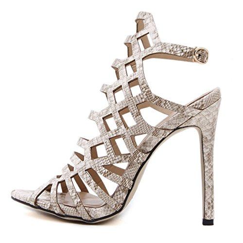 YMFIE b Vendas Verano señoras Toe Sandalias Alto Ahuecó Sexy Sexy tacón de tacón Zapatos en Toe de Alto rTwxrpq