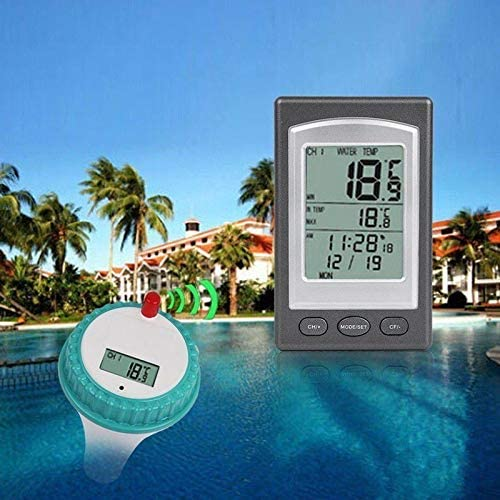 Aquarium Fish Ponds Whirlpools Spas Indoor and Outdoor FORNORM Floating Water Thermometers Bath Wireless Spa Thermometer with Digital LCD Display for Swimming Pool