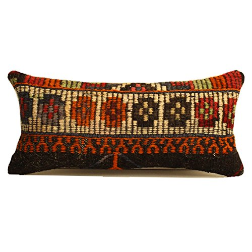 12x24 Embroidered Kilim Pillow Sofa Pillow Ethnic Pillow 12x24 Sofa Pillow Home Decor Anatolian Kilim Pillow Cushion Cover  SP3060-1109