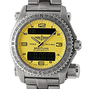 Breitling Emergency analog-quartz mens Watch E56121.1 (Certified Pre-owned)