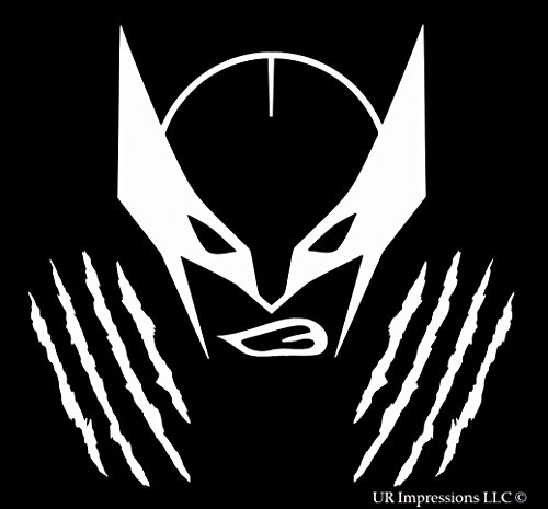 UR Impressions The Wolverine Mask Decal Vinyl Sticker Graphics Car Truck SUV Vans Wall Window Laptop|White|5.5 in|URI362]()