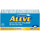 Aleve Caplets with Naproxen Sodium, 220mg (NSAID) Pain Reliever/Fever Reducer, 150 Count