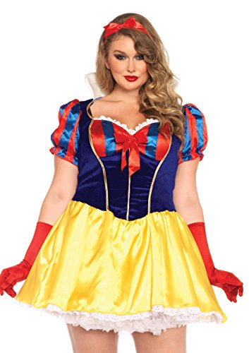 3x leg avenue womens plus size snow white poison apple princess costume multi 1x