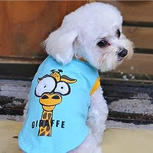 Paleo 2 Colors Dogs Vest Cotton Cartoon T-Shirt Big Eyes Shirt Pet Supplies Clothes