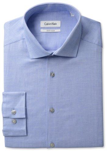 Calvin Klein Men's Long Sleeve Slim Fit Spread Shirt