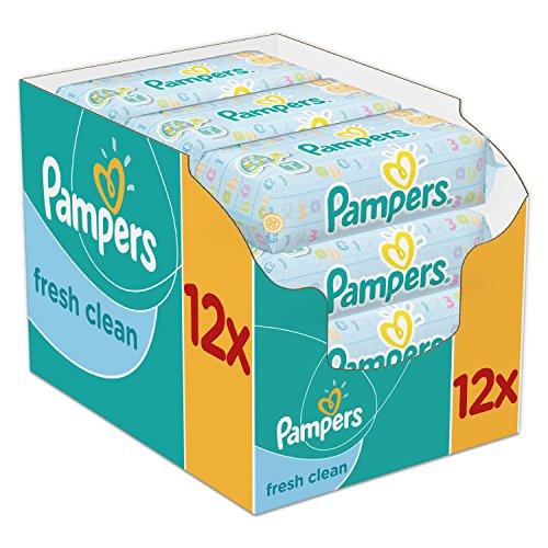 🥇 Pampers – Fresh Clean – Toallitas húmedas – 12 x 64 toallitas
