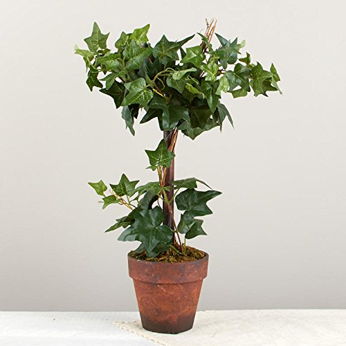 (Factory Direct Craft Poly Silk Ivy Topiary in Faux Terracotta Pot | for Indoor)