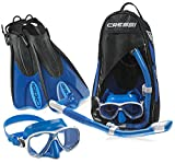 Cressi Made in Italy Palau Short Brisbane Mask Fin Snorkel Travel Set