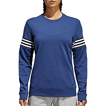 Image of Active Sweatshirts adidas Womens French Terry Changeover Crew Sweatshirt (Noble Indigo/White, L)