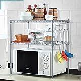 Hyun times Kitchen Electrical Appliances Storage Flavor Rack Planes Double - Deck Microwave Shelves Storage Shelves Finishing