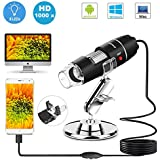 USB Microscope 8 LED USB 2.0 Digital Microscope, Mini Camera with OTG Adapter and Metal Stand, Compatible with Mac Window 7 8 10 Android Linux by Sunnywoo