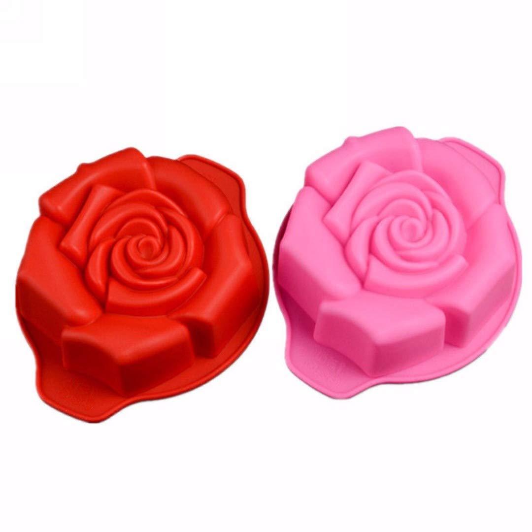 Rose Shape Silicone Cake Mold Bakeware Pan Cupcake Mould Baking Tool Mold DIY Amazing