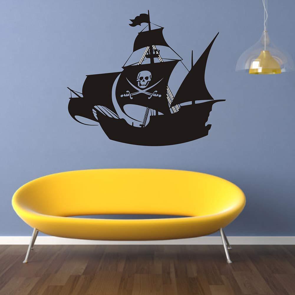 Deanyi 1set Self Adhesive Wandaufkleber Creative Piraten Schiffs Wand Aufkleber DIY Kunst Wandaufkleber f/ür Haus Wohnzimmer Home dekor
