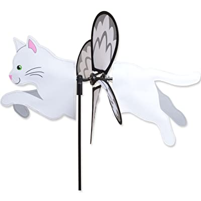 Petite Spinner - White Cat : Garden & Outdoor