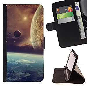 BullDog Case - FOR/Apple Iphone 6 / - / alien planets space cosmos universe cluster star /- Monedero de cuero de la PU Llevar cubierta de la caja con el ID Credit Card Slots Flip funda de cuer