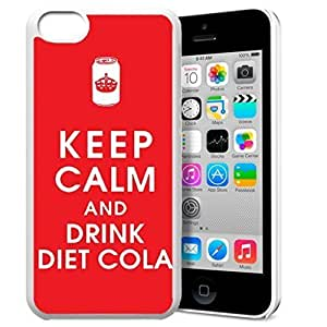 Keep Calm and Drink Diet Cola Pattern HD Durable Hard Plastic Case Cover for iPhone 5c Design By GXFC Case