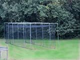 Jones Sports #24(42ply) Pro Baseball/Softball Batting Cage with Door, Frame Kit and L-Screen (10' X 12' X 40')